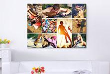 Foto lienzo collage ejemplo verano y deporte