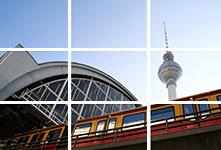 Foto lienzo dividido ejemplo Alexanderplatz