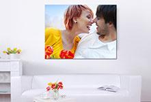 Foto lienzo en salon ejemplo pareja
