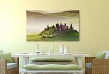 Foto lienzo impreso ejemplo paisaje salon