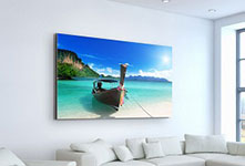 Foto lienzo pared salon ejemplo mares del sur