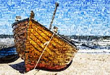 Foto mosaico ejemplo barco pequeño