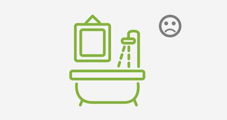 Imagen no colgar en baño