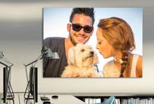 Poster ejemplo pareja con perro