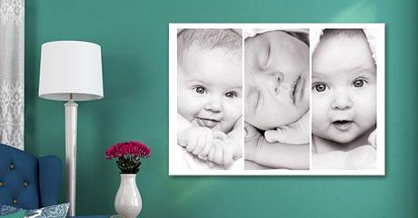 Salon foto lienzo collage ejemplo bebe
