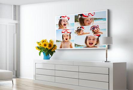 Salon foto lienzo collage ejemplo niña vacaciones