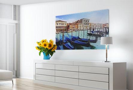 Salon foto metacrilato ejemplo barcos en Venecia