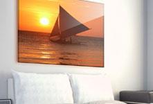 Sofa foto metacrilato ejemplo barco de vela