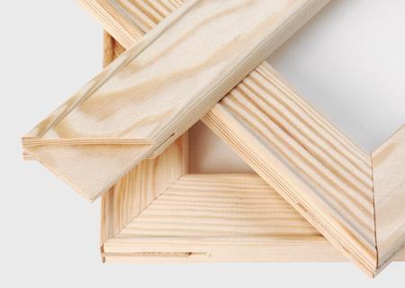 Vista bastidor de madera de foto lienzo