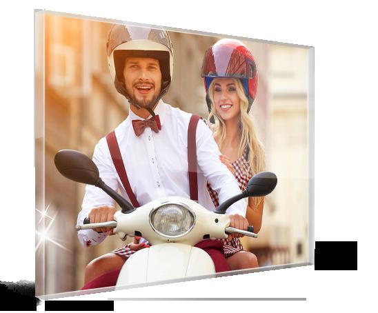 aterrizaje metacrilato ejemplo pareja en moto