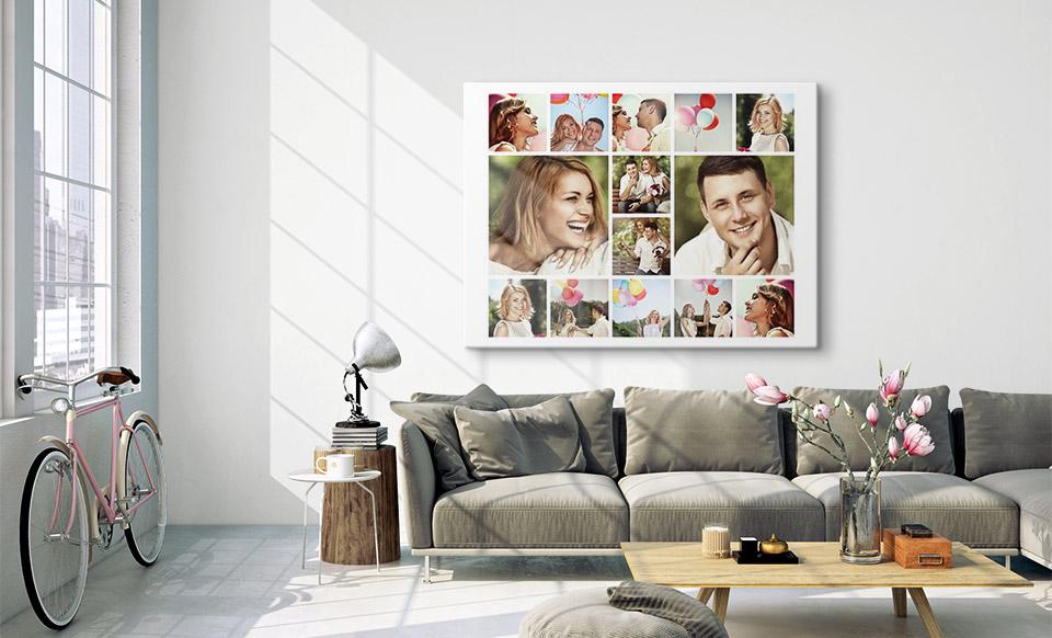 lienzo collage spazio di vita
