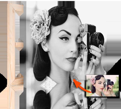 lienzo foto blanco y negro top