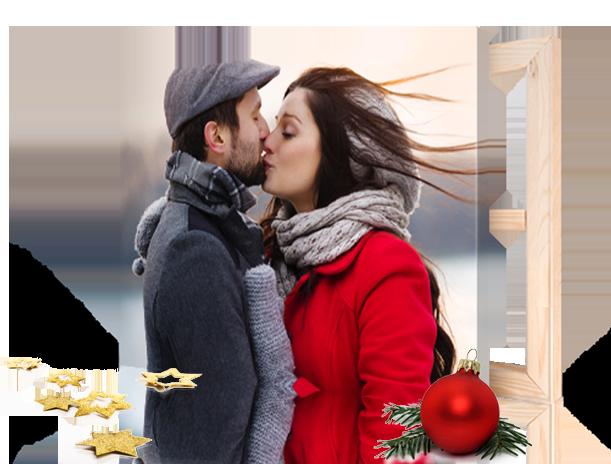 pagina aterrizaje foto lienzo navidad ejemplo pareja beso