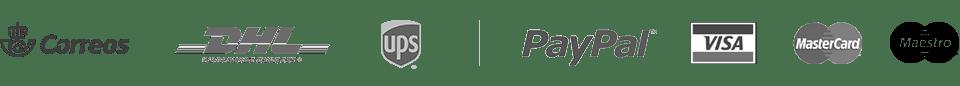 Nuestros socios - logos modos de pago, de envio y distinciones