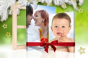 vista sitio foto lienzo navidad regalo ejemplo niño pareja